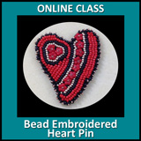 Bead Embroidered Heart online class