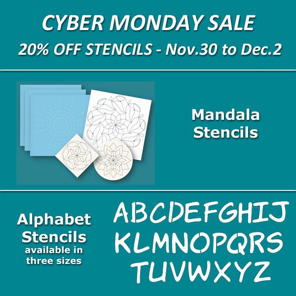 Cyber Monday Stencil sale